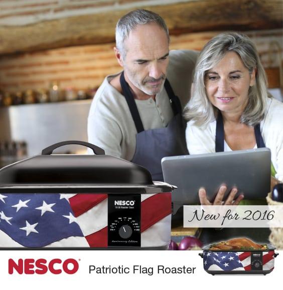 NESCO Patriotic Flag Roaster