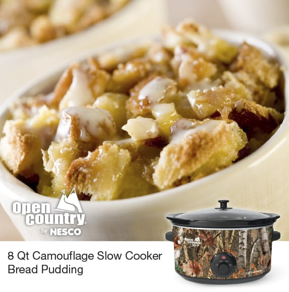 8 Qt. Camouflage Slow Cooker Bread Pudding