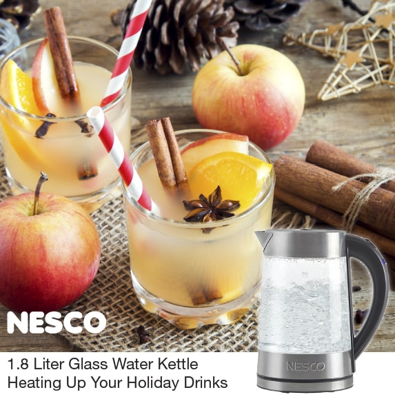1.8 Liter Glass Water Kettle Heating Up Your Holiday Drinks