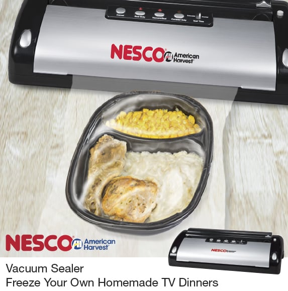 Vacuum Sealer Freeze Your Own Homemade TV Dinners