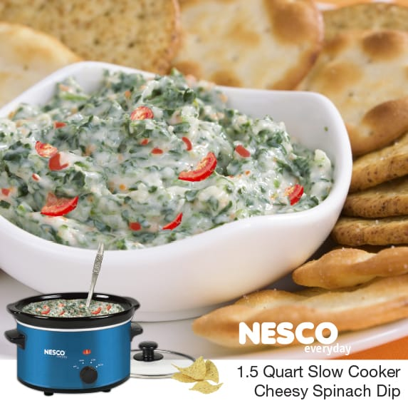1.5 Quart Slow Cooker Cheesy Spinach Dip