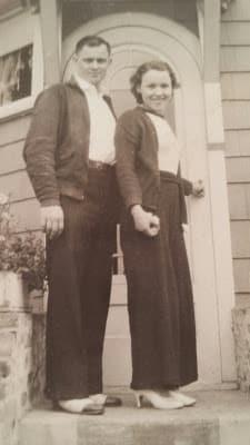 """Grandma Bee and her husband, before she was """"Grandma Bee"""""""