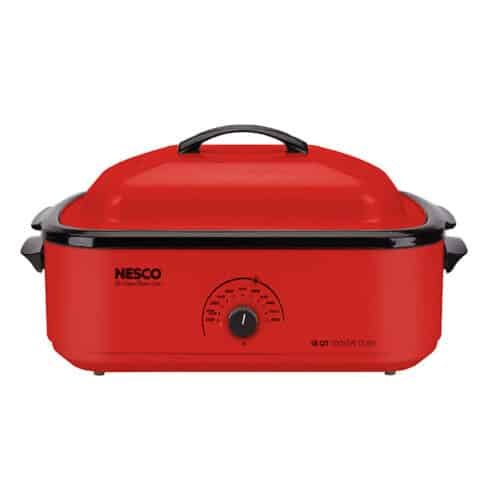 18 Qt Red Roaster, Porcelain Cookwell