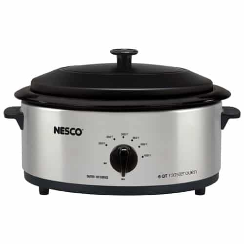 6 Qt. Stainless Steel Roaster with Porcelain Cookwell
