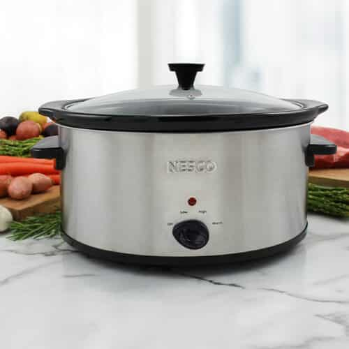 6 Quart Analog Stainless Steel Slow Cooker