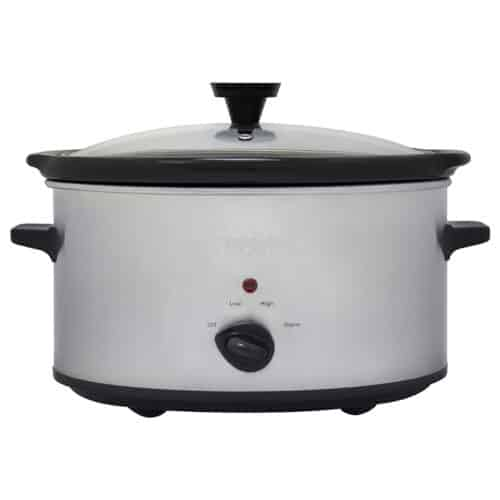 6 Qt.  Stainless Steel Analog Slow Cooker