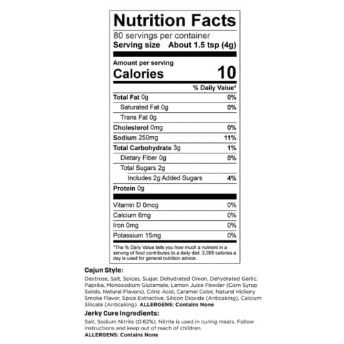 Cajun Style 10lb Yield Nutr Facts_3