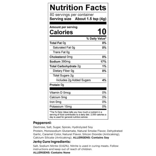 Pepperoni 10lb Yield Nutr Facts_3