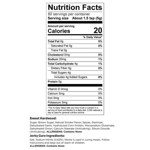 Sweet Hardwood 10lb Yield Nutr Facts_3
