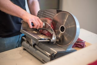 Sliced Jerky with a Nesco Food Slicer