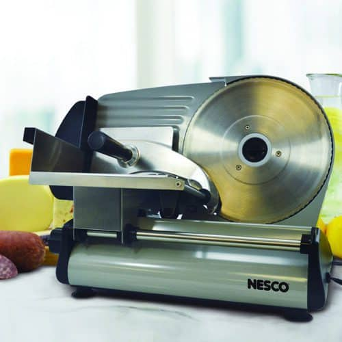 "FS-250 180 Watt Food Slicer With 8.7"" Blade Lifestyle"