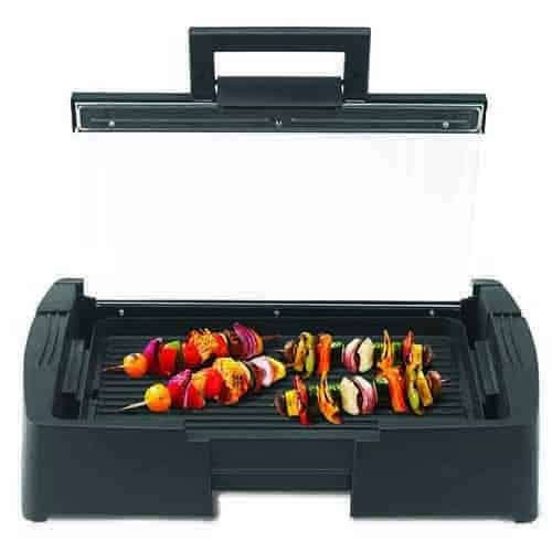 Grill with Glass Lid