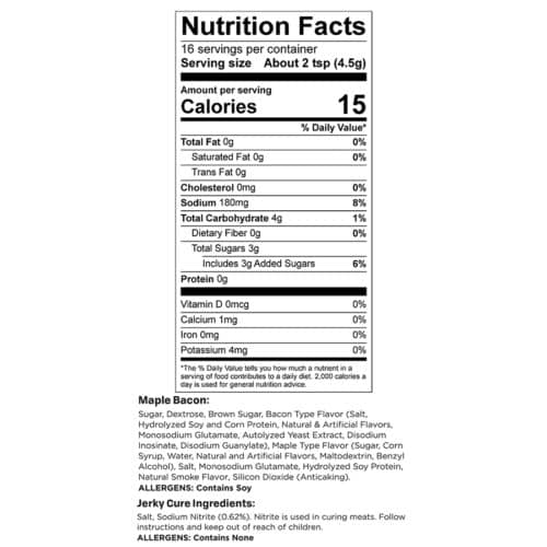 Maple Bacon Trial Size Nutr Facts_3
