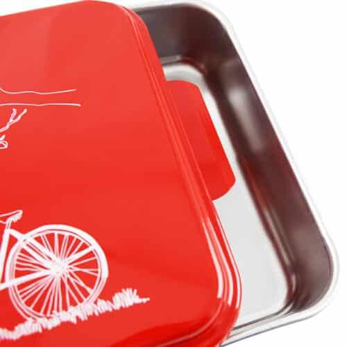 NCP-B-8 Red Bicycle Cake Pan Close Up