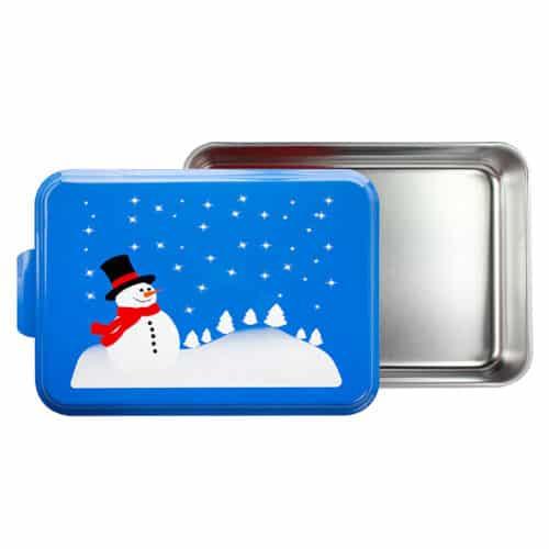 NCP-E-8 Snowman Cake Pan Open View