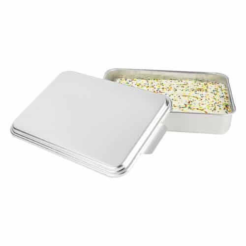 Natural Aluminum Cake Pan Open View