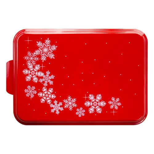 NCP-BB-8 Red Snowflake 9x13 Cake Pan Main