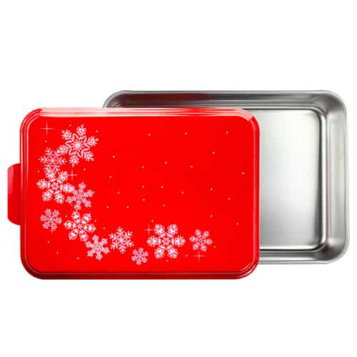 NCP-BB-8 Red Snowflake 9x13 Cake Pan Open View
