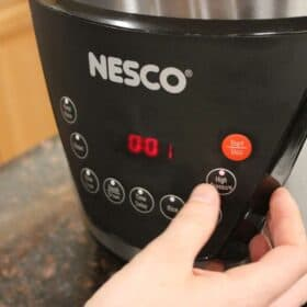 NESCO Electric Pressure Cooker Digital Control Panel Close Up