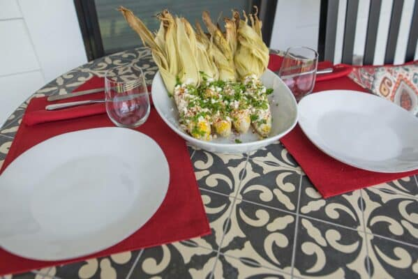 Mexican Street Corn On Table