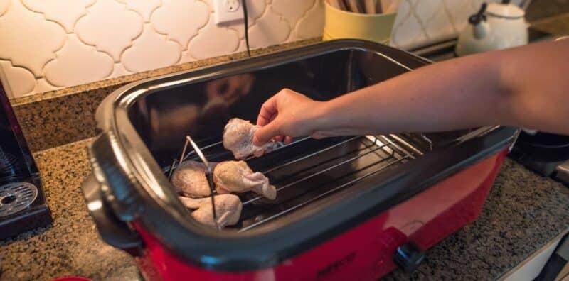 Firecracker Wings In NESCO Roaster Oven