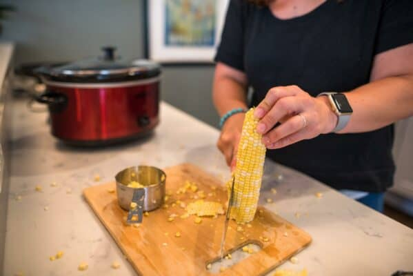 Slicing Corn For Corn Chowder