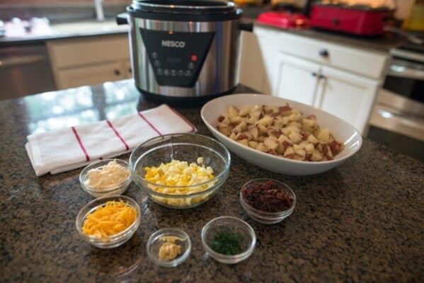 Prepared Ingredients For Potato Salad
