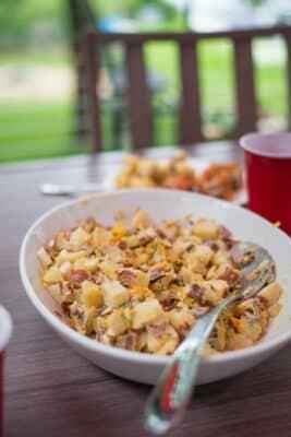 Potato Salad On Table