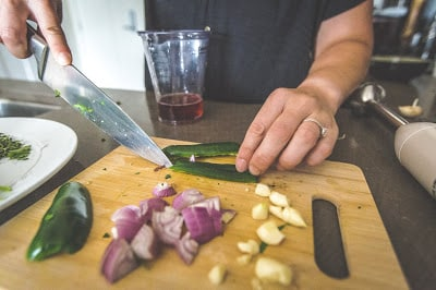 Preparing Chimichurri Sauce