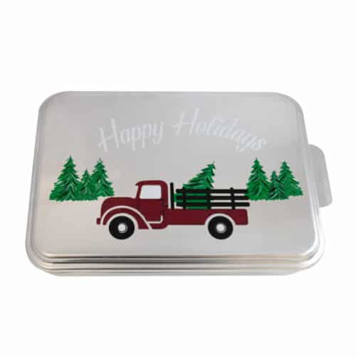 NCP-AG-2 Truck And Natural Aluminum Cake Pan 2 Pack Decorative Cover