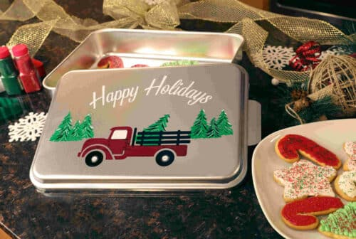 NCP-AG-2 Truck And Natural Aluminum Cake Pan 2 Pack Lifestyle
